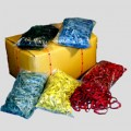 Gummibånd farvet