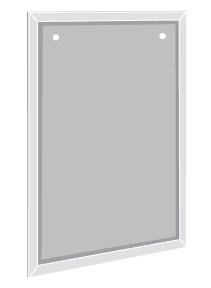 Metalskilt A4 med 2 huller
